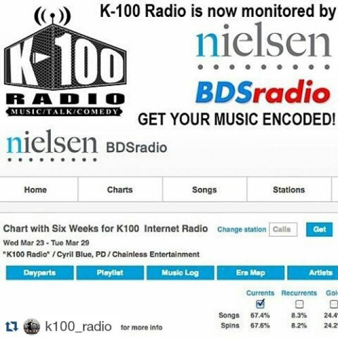 K-100 Radio is Now a Nielsen BDS Monitored Broadcast