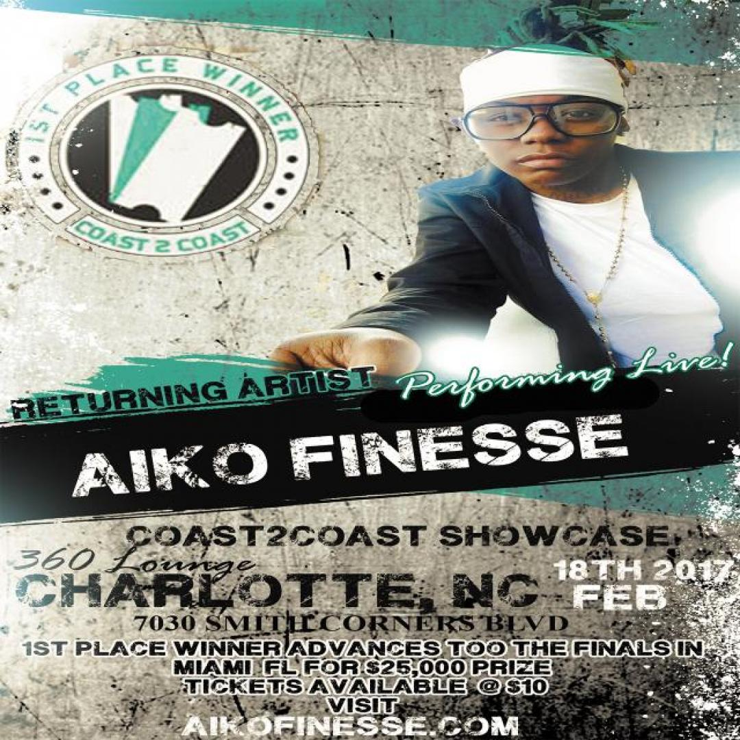 07736cf7374f Aiko Set to Return to Coast2Coast Stage in Charlotte on Feb 18th. Submitted  2 years 4 months ...